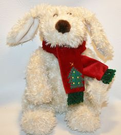 Darla and Darby Commonwealth Plush Puppy Dog Stuffed Animal Christmas Scarf Tree #CommonwealthToys