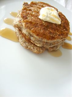 Buckwheat pancakes..made these they are delicious !! I added flax seeds to the recipe which gave it a great texture!!