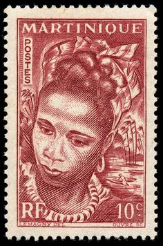 martinique postage stamp 1947