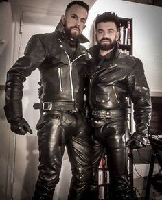 Leather Men, Leather Pants, Black Leather, Motorcycle Leather, Motorcycle Jacket, Gay, Bearded Men, Sexy Men, Jackets
