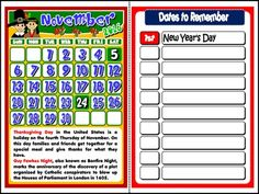 This mini pack contains: - 1 set of Calendars to display in the classroom, with reference to important holidays and celebrations + blank spaces to write other important dates, such as students. Saints Days, 2016 Calendar, Important Dates, Dating, Classroom, The Unit, Student, School, Books