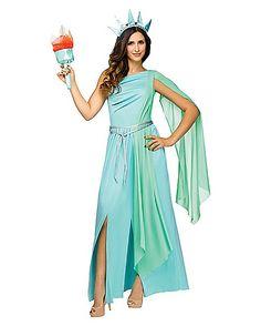 Adult Lady Liberty Costume - Spirithalloween.com