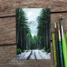 My snowy forest acrylic painting is done after 15 hours of work. A lot of time … My snowy forest. Mini Toile, Picasso Paintings, Forest Painting, Art Anime, Guache, Art Plastique, Art Techniques, Oeuvre D'art, Painting Inspiration