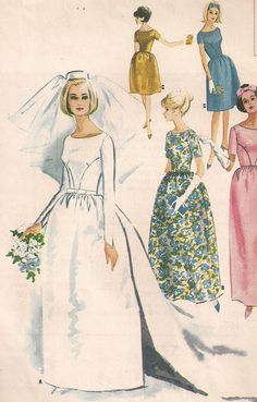 dress ES - drawing from the simplicity which seems to have been preferred in the 60s over contemporary designs such as Kate Middleton's intricate lace dress.