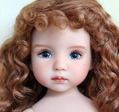 Dianna-Effner-Little-Darling-1-Yesterdays-Child-Painted-by-Joyce-Mathews. Close up of doll's face. Ends 9/6/14. Start bid $750.00. SOLD for $1,575.00