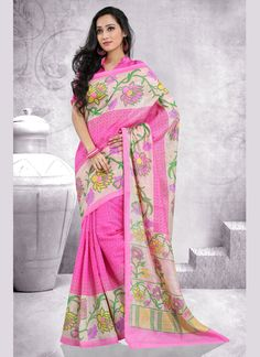 http://www.sareesaga.in/index.php?route=product/product&product_id=17274  Style: Casual Shipping Time:10 to 12 Days Occasion:Party Casual Fabric:Art Silk Colour:Pink Work:Print  For Inquiry Or Any Query Related To Product, Contact :- +91 9825192886