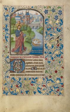 Main View (.13) / book image source / Arenberg Hours; Willem Vrelant and workshop (Flemish, died 1481, active 1454 - 1481); Bruges, Belgium; early 1460s; Tempera colors, gold leaf, and ink on parchment bound between wood boards covered with purple velvet; Leaf: 25.6 × 17.3 cm (10 1/16 × 6 13/16 in.); Ms. Ludwig IX 8