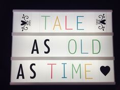 Disney Lightbox Cinema Light Box Quotes, Cinema Box, Light Quotes, Light Up Message Board, Light Board, Led Sign Board, Letter Board, Marquee Lights, Marquee Sign