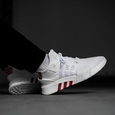 Two colorways, including this clean white/red version of the Adidas EQT BASK ADV, will be available soon on kickz.com! STAY TUNED!
