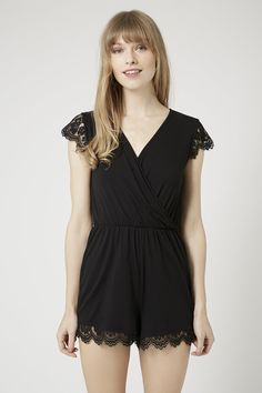 Lace Cap Sleeve Playsuit - Topshop £26 also in petite
