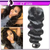 Free Shipping 6A Peruvian Lace Closure Unprocessed Peruvian Virgin Hair Closure Body Wave 100% Human Hair Extensions