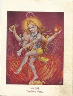 Heritage of India: Tandava Nirtya (Shiva Tandavam) vintage print