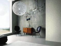 Tapeten Im Wohnzimmer; Architects Paper Fototapete «marode ... Industrial Chic Wohnzimmer