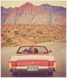 Another Epic Elopement in Las Vegas. What a cool car!