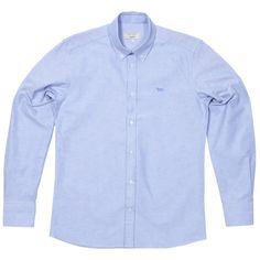 Maison Kitsuné Classic Button Down Oxford Shirt (Sky ) GBP175