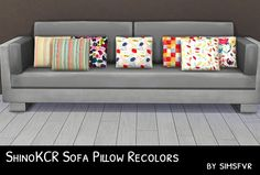 Simsfvr: ShinoKCR Sofa Pillow Recolors • Sims 4 Downloads