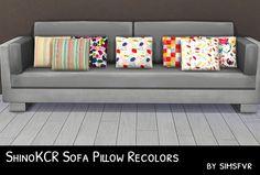 Simsfvr: ShinoKCR Sofa Pillow Recolors • Sims 4 Downloads