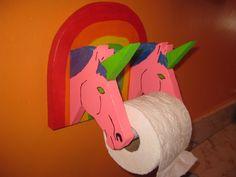 unicorn tp holder No. 6 by cornheadmuffinbrain on Etsy, $40.00