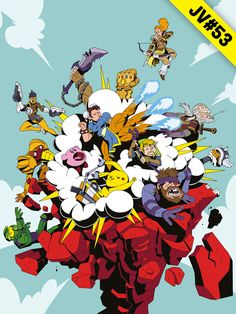 JV#53 par Gruth Comic Books, Illustrations, Comics, Cover, Art, Art Background, Illustration, Kunst, Cartoons