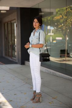 Annabelle of @Anna Totten Hutt Fleur debuts J BRAND @INTERMIX 20th Anniversary Capsule Collection embroidered skinnies.