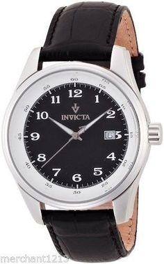 Invicta 12186 Vintage Collection Mens Watch Black Dial