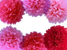 Tissue Paper Poms....perfect for weddings, birthday parties, baby showers, and room decor.