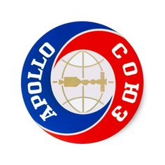 Le logo de mission d'Apollo-Soyuz Sticker Rond