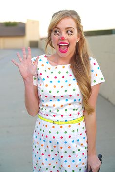 10 Classic Costumes That Never Get Old #clown #costume #halloween #women #cute #fashion