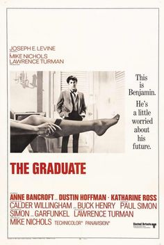 """""""The Graduate"""" directed by Mike Nichols / highest grossing film in 1967"""