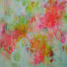 40x40 large abstract painting floral painting by ElenasArtStudio, $379.00