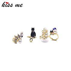 4PCS/Set Knuckle Rings Set Cute Girl Enamel Geometric Women Rings Fashion Jewelry Diameter=1.2cm