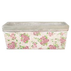 Featuring on trend rose print detailing, this ceramic planter is ideal for installing herbs along your kitchen window ledge or displaying shrubs on your pati...