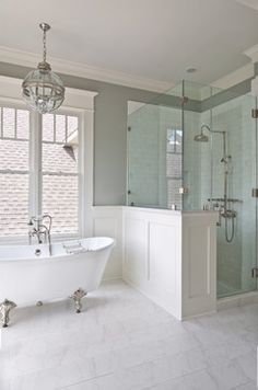 Half Wall Shower Design Ideas, Pictures, Remodel and Decor