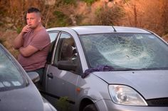 Actor John Connors on the set of Cardboard Gangsters shooting in Belcamp Lane, Dublin.