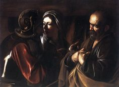 The Denial of Saint Peter  Artist Caravaggio  Year c. 1610  Type Oil on canvas  Dimensions 94 cm × 125 cm (37 in × 49 in)  Location Metropolitan Museum of Art, New York City