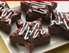 Brownie Stars - for the 4th, at the lake would be great!