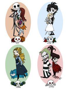 American Goth Girl in London (tim burton,seasons,beetlejuice,edward scissorhands,alice in wonderland,nightmare before christmas)