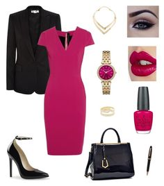 """""""business meeting"""" by claracluck on Polyvore featuring STELLA McCARTNEY, Roland Mouret, Charlotte Tilbury, OPI, Dasein, MICHAEL Michael Kors, Maria Black and Montblanc"""