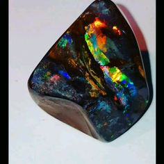 Polished Boulder Opal specimen from our mine at Kurran Station , S/W Queensland , Australia. Minerals And Gemstones, Crystals Minerals, Rocks And Minerals, Stones And Crystals, Natural Gemstones, Beautiful Rocks, Rocks And Gems, Opal Jewelry, Queensland Australia