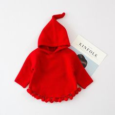 Little Red Riding Hood Knitted Sweater