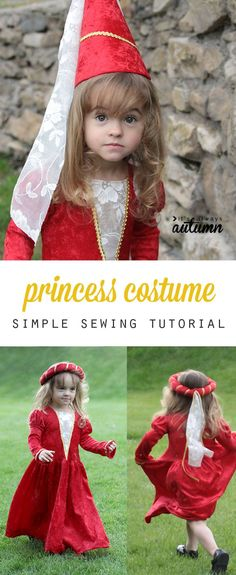 "how to add puffed ""princess"" sleeves to any sewing pattern – It's Always Autumn This adorable princess dress is actually really easy to make! Sew one up for a Halloween costume or just for dress up! Costume Halloween, Costume Carnaval, Couple Halloween, Costume Ninja, Girl Group Costumes, Teen Costumes, Woman Costumes, Pirate Costumes, Couple Costumes"