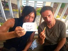 Andrew Lincoln, Norman Reedus #TheBoomOperator