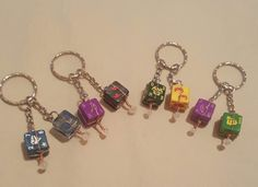 Double Down Dice Keyrings by TheWhimsicalMammoth on Etsy
