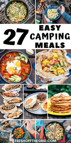 Looking for some quick & easy camping meal ideas to make on your next camping trip? Something that won't be a ton of work, but still taste delicious? Well, then this list is for you! All these camping Camping Meal Planning, Camping Food Make Ahead, Camping Menu, Easy Food To Make, Camping Foods, Backpacking Food, Easy Camping Breakfast, Van Camping, Camping Cooking