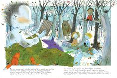 "Marie-Louise Gay ~ Spread from the picture book ""Any Questions?"""