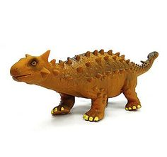 Ankylosaur Dinosaur Model Rubber Action Figures Toy(Yellow) Material	Rubber Color	Gold Dimensions (cm)	35*9*8 #wholesaleplasticactionfigure #wholesalefigure #plasticfigure #actionfigure #bridgat.com