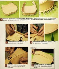 How to sew a bag of leather / Как сшить сумку из кожи