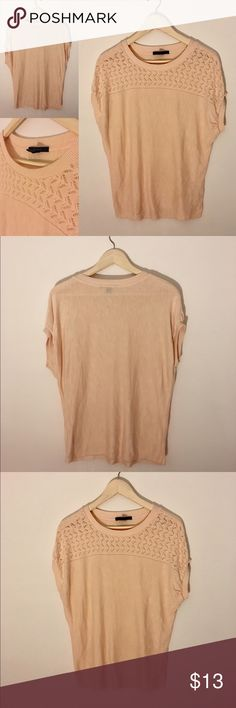 Peach Short Sleeve Sweater Size S Lightweight sweater in a peach color from Forever21. Never worn! Women's Size S. Please contact me if you have any questions! Forever 21 Sweaters Crew & Scoop Necks