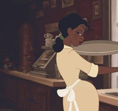 Tiana never stops working toward her dream. 24 Reasons Tiana Is The Most Underrated Disney Princess Walt Disney, Disney Magic, Disney Art, Disney Movies, Disney Characters, Disney Icons, Punk Disney, Disney Stuff, Tiana And Naveen