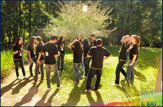 Grupo do Coral Jovem do IACS envolvidos no acampamento em Novo Hamburgo.